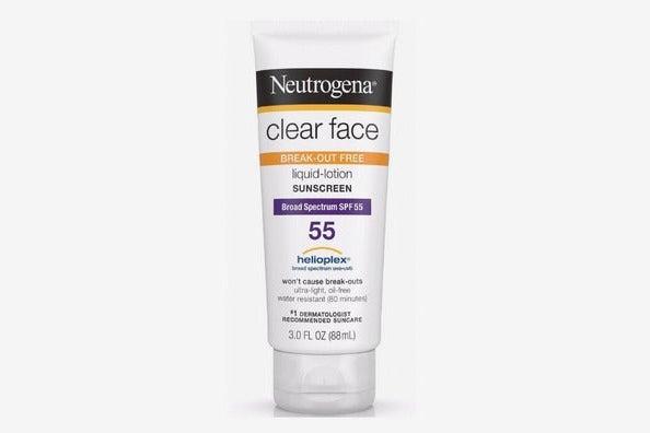 Neutrogena Clear Face Break-Out Free Liquid Lotion Sunscreen
