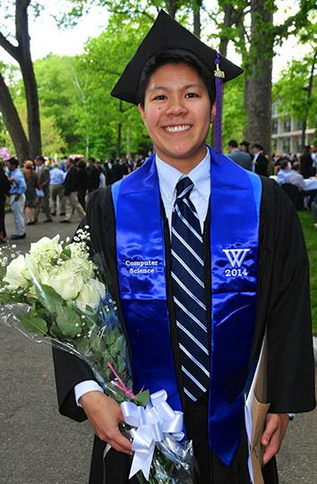 Alex Poon on graduation day.