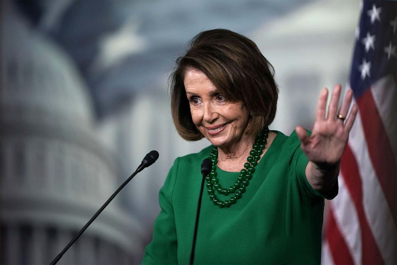 U.S. House Minority Leader Rep. Nancy Pelosi speaks during her weekly news conference on Thursday.