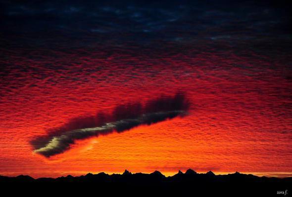 fall streak cloud