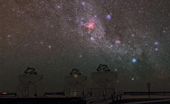 Southern skies over the Very Large Telescope