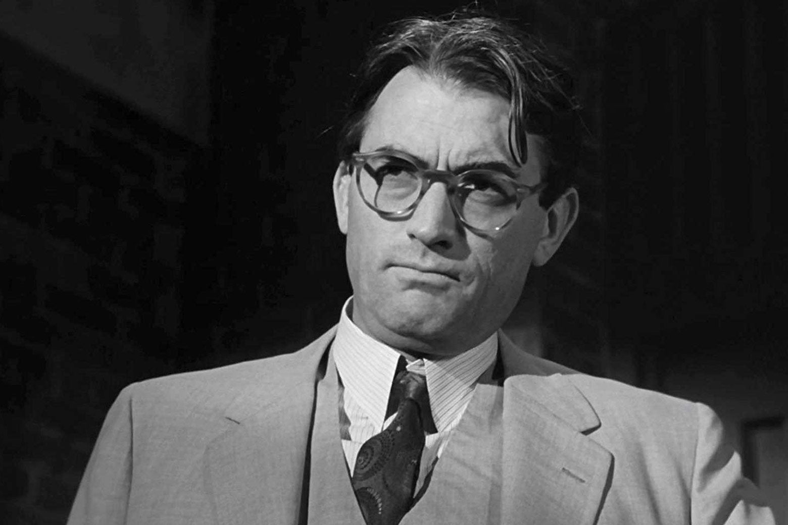 Gregory Peck as Atticus Finch in To Kill a Mockingbird.