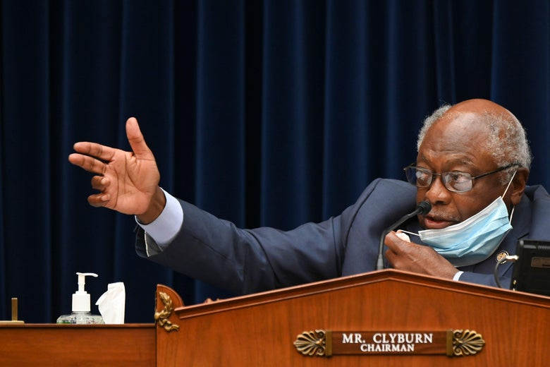 Rep. James Clyburn speaks during a hearing on Capitol Hill in Washington, D.C. on July 31, 2020.