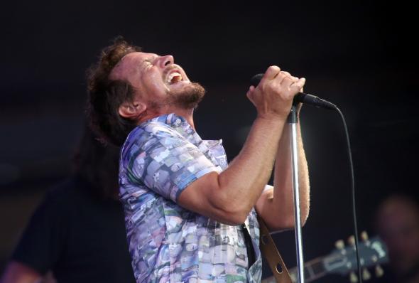 Eddie Vedder of Pearl Jam.