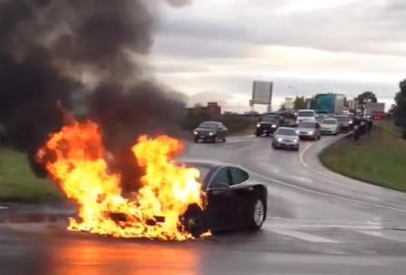 Tesla Model S fire YouTube