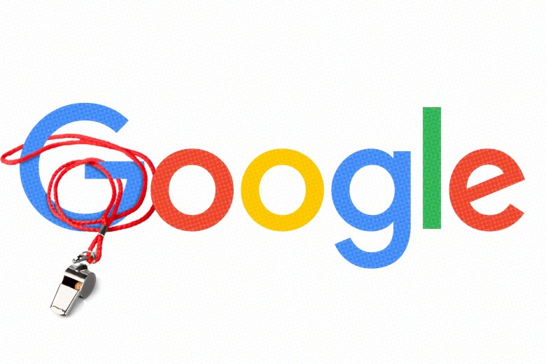 Google logo with a whistle around its G.