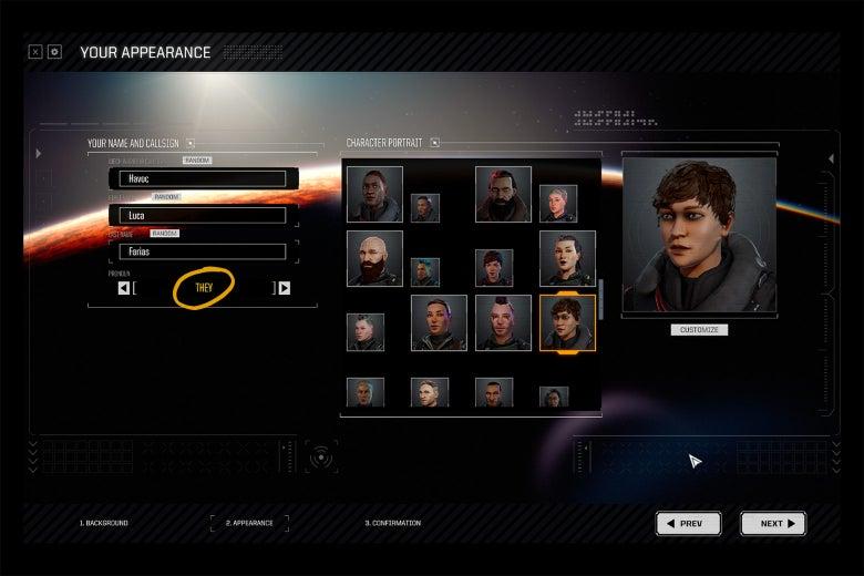 Character creation screen from BattleTech.
