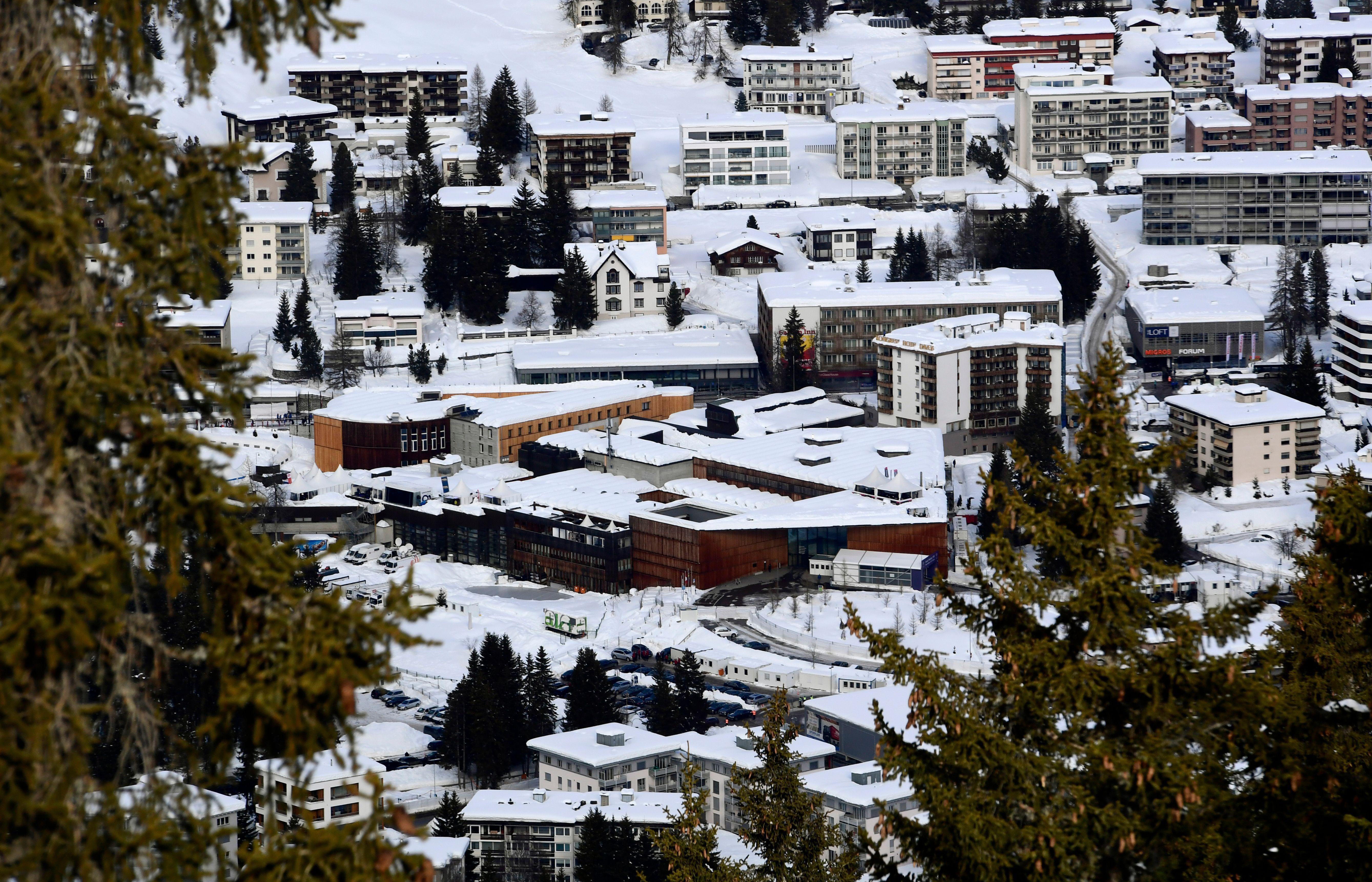 The buildings housing the World Economic Forum in Davos, Switzerland
