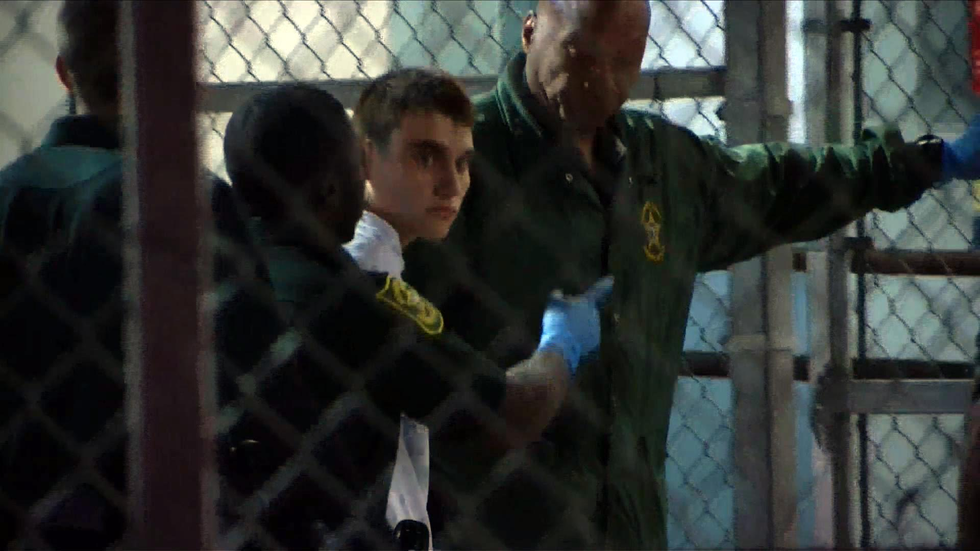 Shooting suspect Nikolas Cruz was transferred from a hospital to Broward County Jail in Ft. Lauderdale, Florida on Thursday.