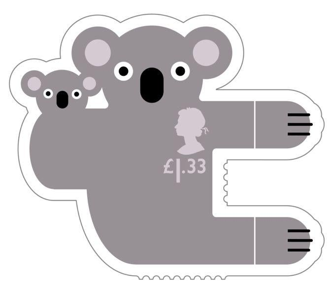 Animail Koala stamp 400%