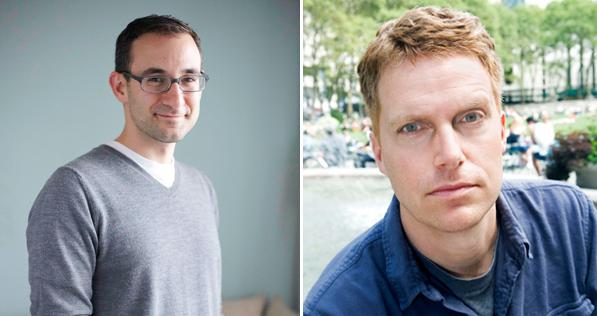 Editor Zack Wagman, left, and author Adam Sternbergh.