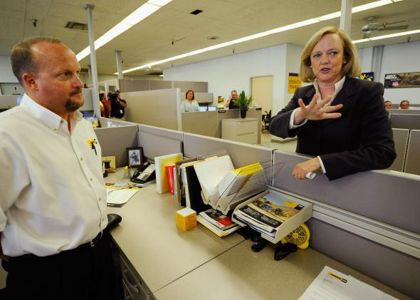 Meg Whitman telecommuting