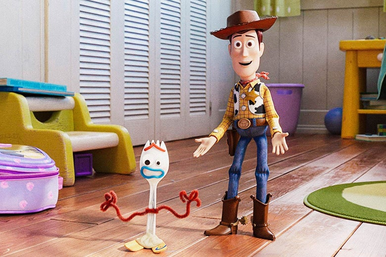 Woody and Forky in Toy Story 4.