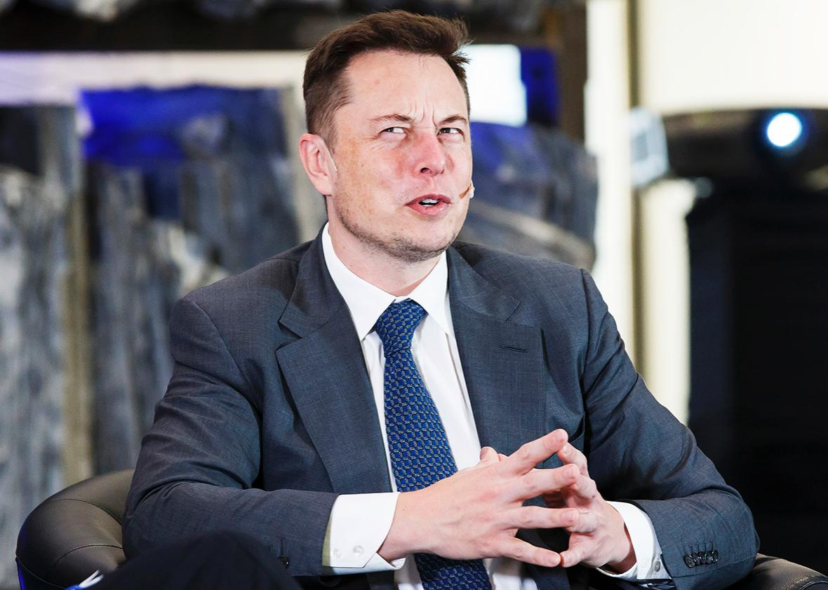 Elon Musk, CEO of Tesla Motors attends an environmental conference at Astrup Fearnley Museum in Oslo, Norway on April 21, 2016.
