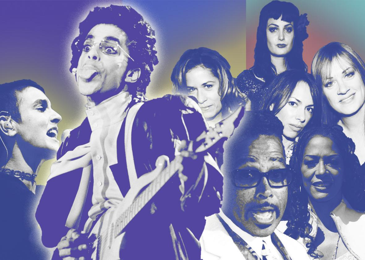 Prince ruled the charts in the '80s even when his name wasn