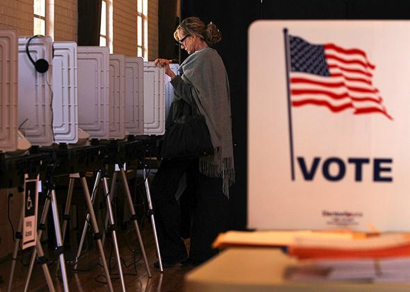 Polling station, Sandy Springs, Georgia