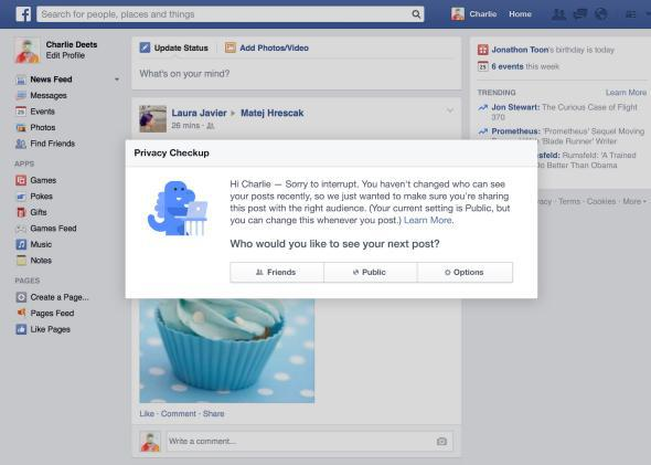 Facebook's friendly blue privacy dinosaur