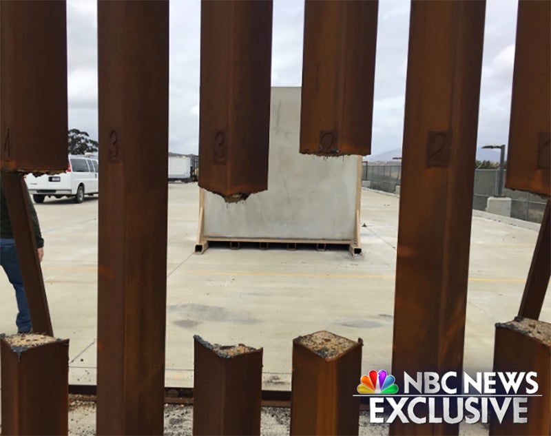 Hole in Border Wall Prototype
