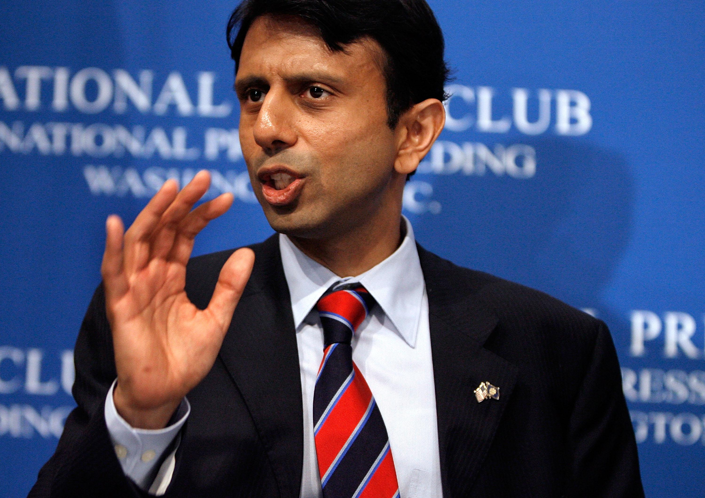 Louisana Gov. Bobby Jindal addresses the National Press Club May 2, 2008, in Washington, D.C.