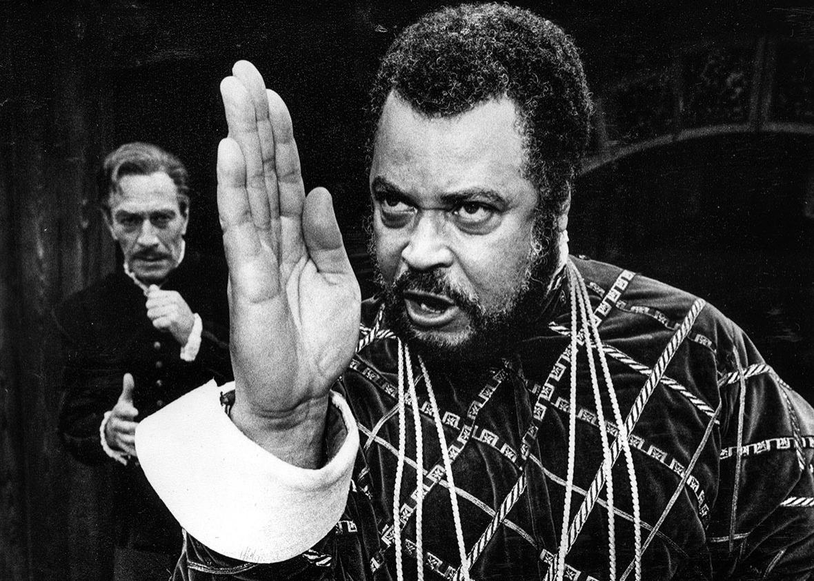 Actor James Earl Jones as Othello and Christopher Plummer as Iag