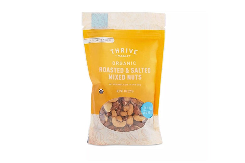 Bag of roasted mixed nuts