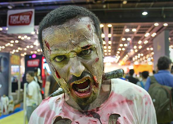 The Walking Dead comic book series, one cosplayer from Dubai.