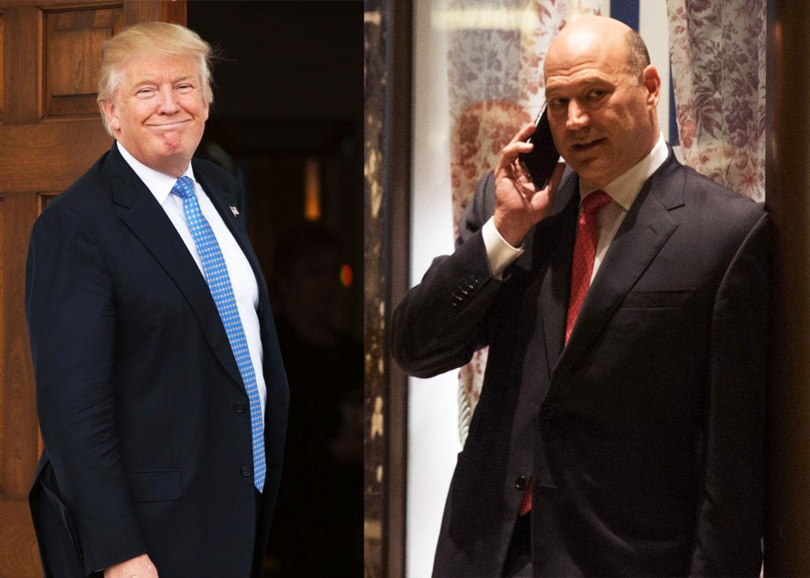 Donald Trump and Gary Cohn.