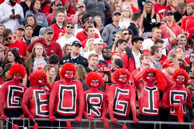 Georgia fans in the stands.