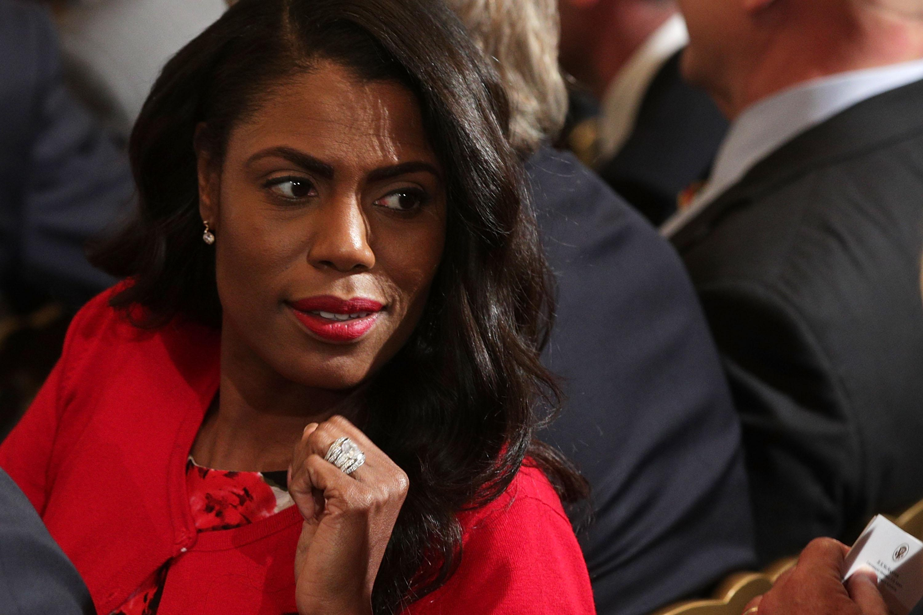 Omarosa Manigault attends a nomination announcement at the East Room of the White House October 12, 2017 in Washington, D.C.