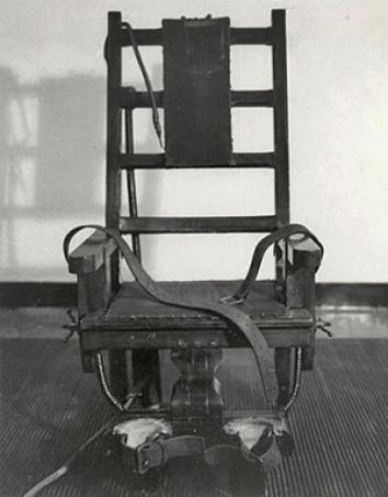 """Old Sparky"", the electric chair used at the Sing Sing Correctional Facility in Ossining, NY."