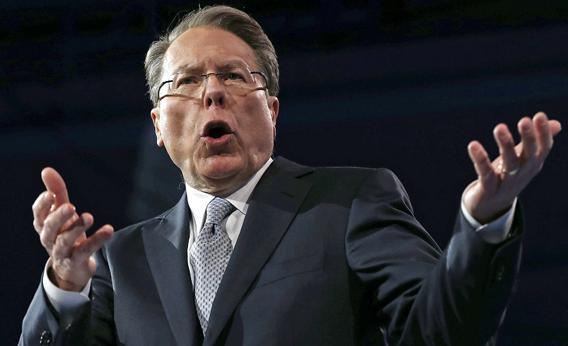 Wayne LaPierre, CEO of the National Rifle Association, delivers remarks during the second day of the 40th annual Conservative Political Action Conference (CPAC) March 15, 2013 in National Harbor, Maryland.
