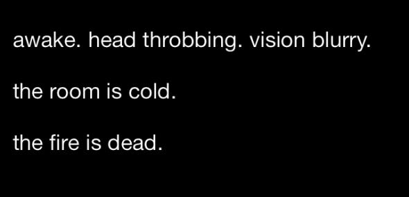 A Dark Room iOS screenshot