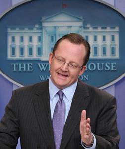 White House Press Secretary Robert Gibbs. Click image to expand.