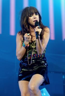 Carly Rae Jepsen performs at the Staples Center in Los Angeles