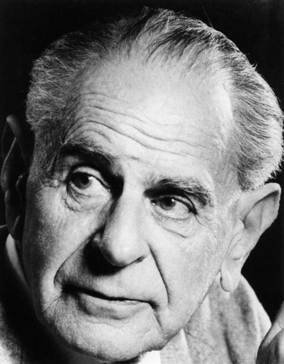 Karl Popper in the 1980s.