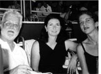 Russell Banks, Elaina Richardson, and Danis Banks at the 2002 Yaddo Stakes