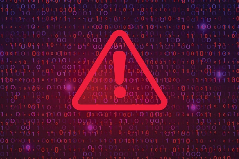 A montage of computer security warnings.