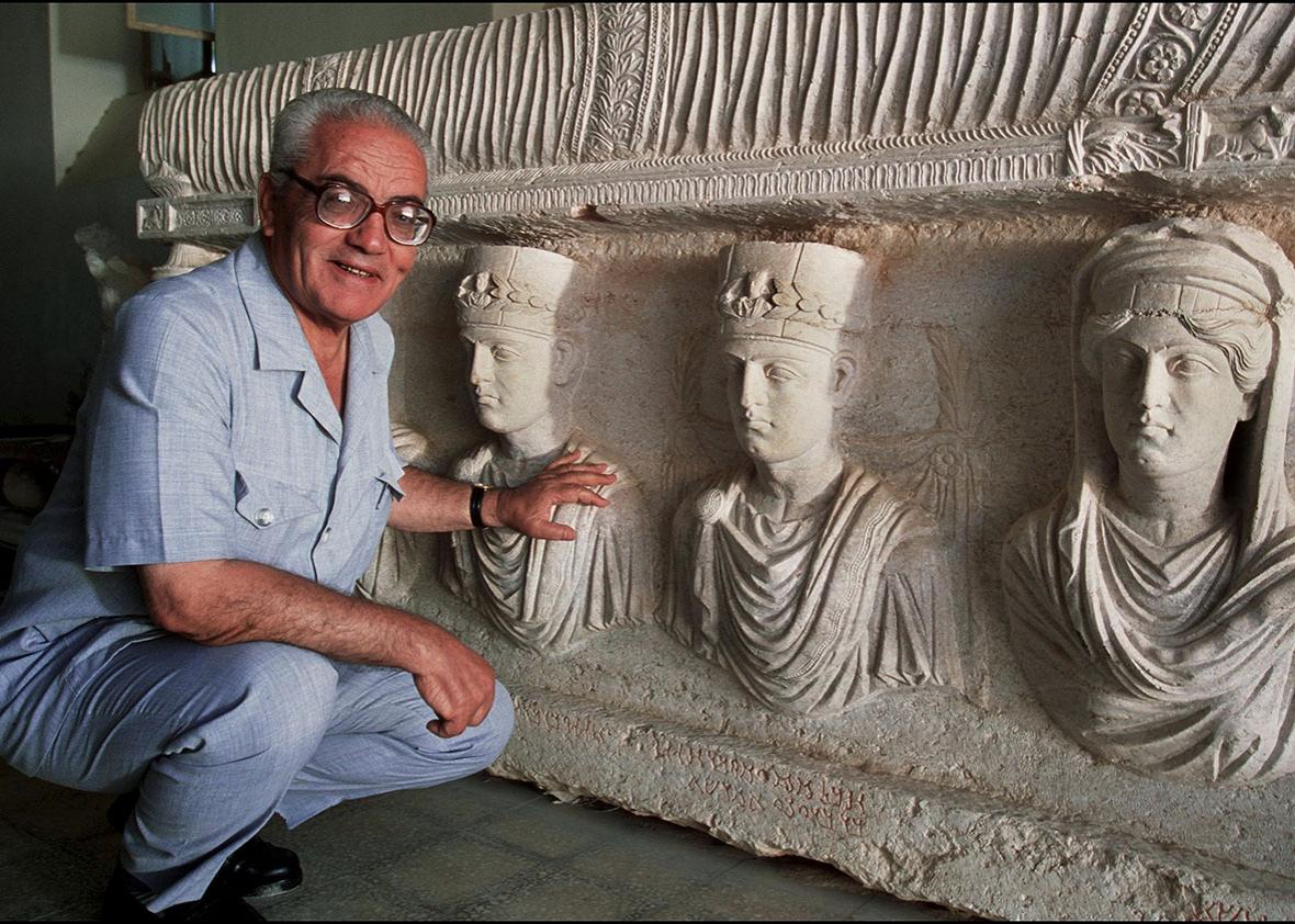 Khaled Asad, the Director of Antiquities and Museum in Palmyra.