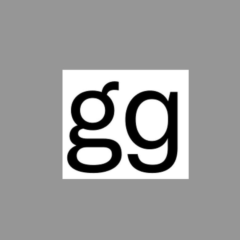 The lowercase g and it's alternate in the Chirp font.