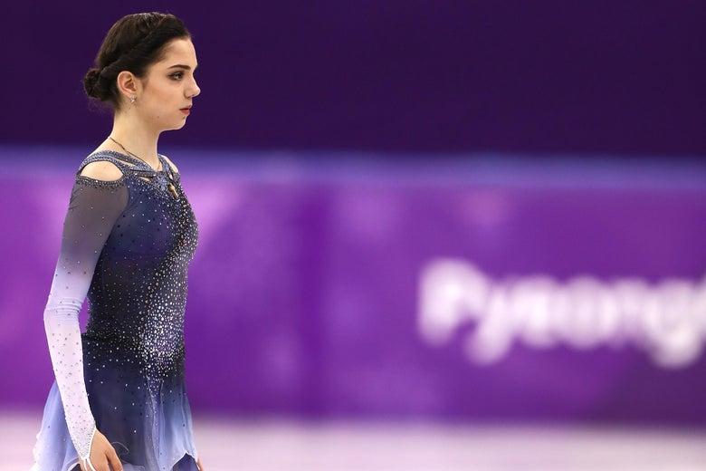 Evgenia Medvedeva on ice.