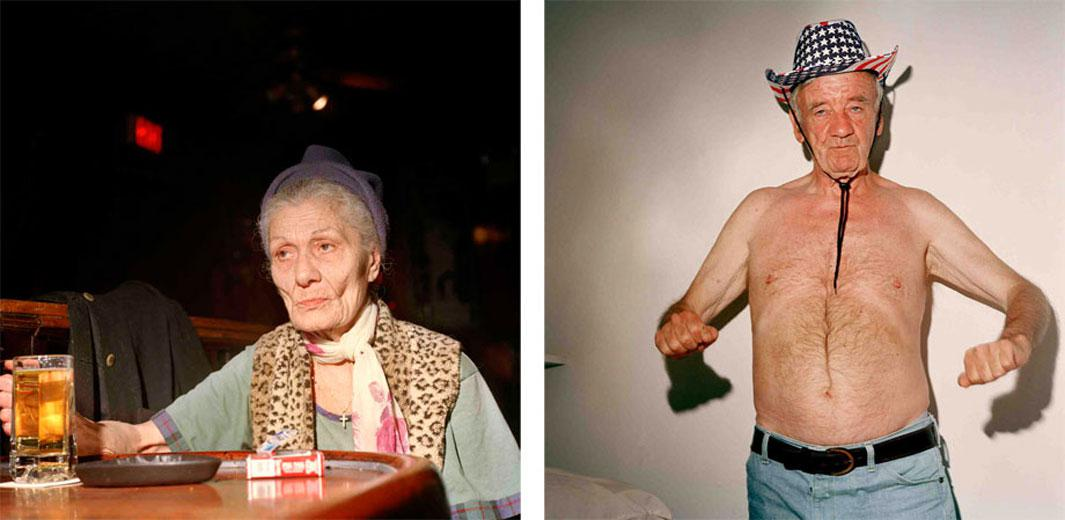 Left: Leopard Lady, 2003. Right: Charlie Cowboy, 2004 I took this photograph on July 4th, after I hadn't seen Charlie for many months. He had stopped drinking and was doing well in his new, sober life.