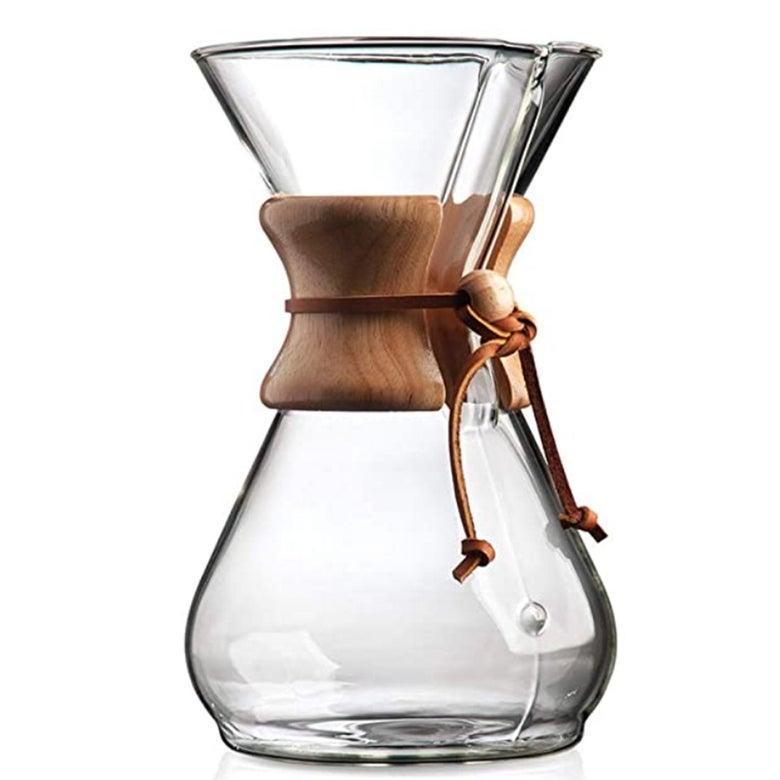 A glass Chemex.