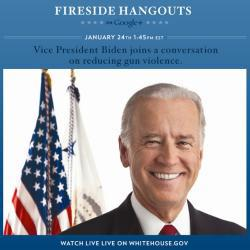 Joe Biden Google Plus hangout