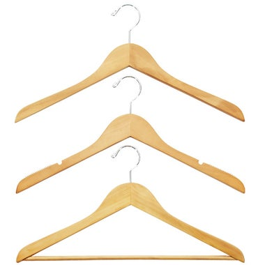 The Container Store Basic Natural Wood Hangers