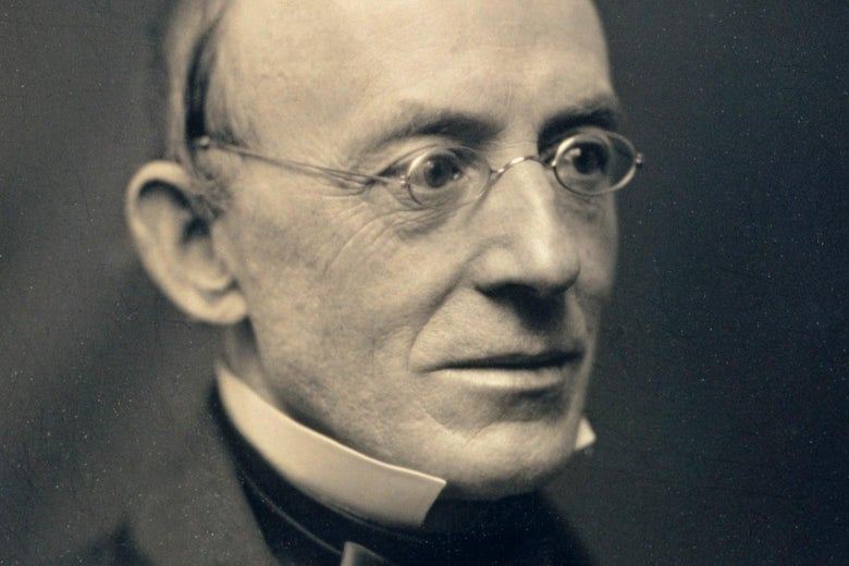 Black-and-white photo of William Lloyd Garrison in semiprofile.