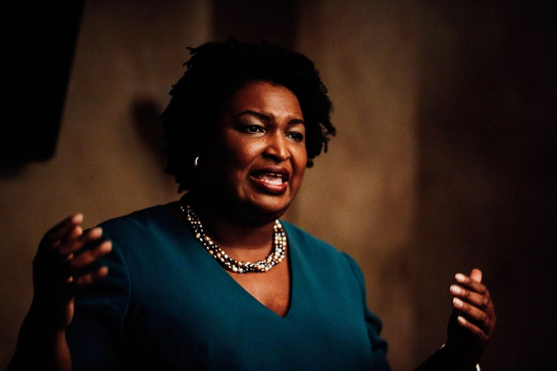 Georgia's Stacey Abrams, a Democrat, would become the first black woman to be elected governor in U.S. history.