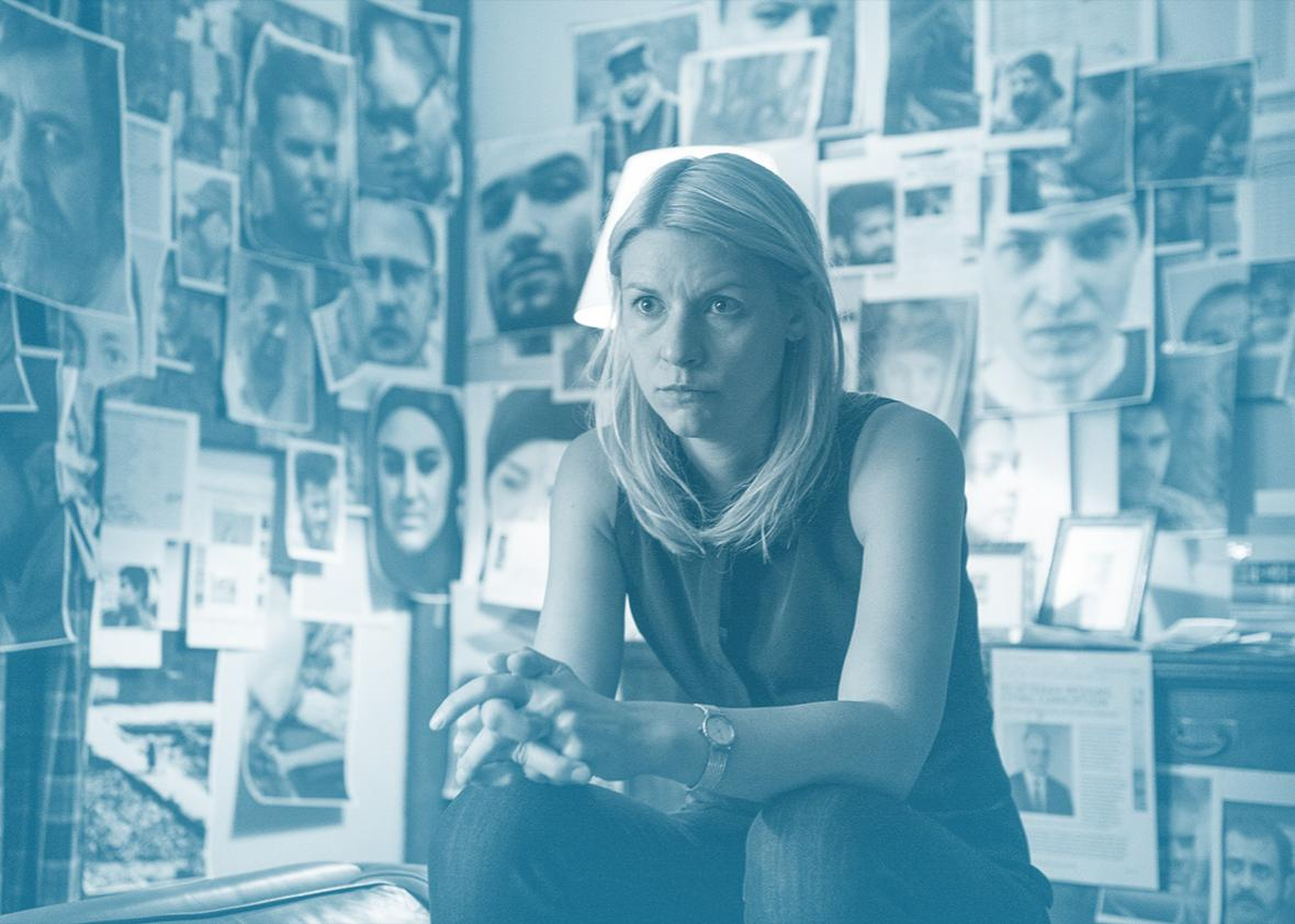Claire Danes as Carrie Mathison in Homeland (Season 5, Episode 3).
