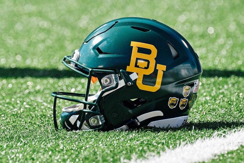 A Baylor football helmet.