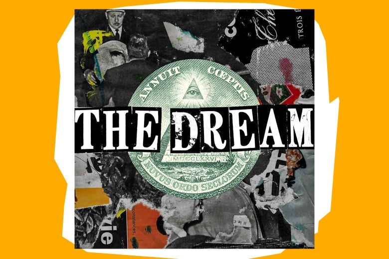 The logo for the podcast The Dream.