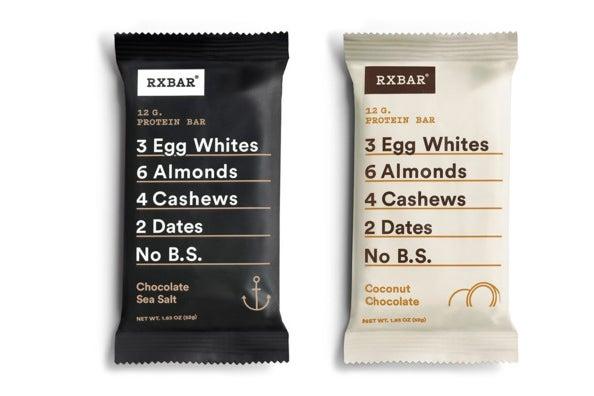 RXBAR Whole Food Protein Bars.